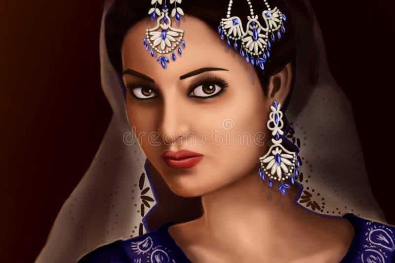 indyjska kobieta royalty ilustracja
