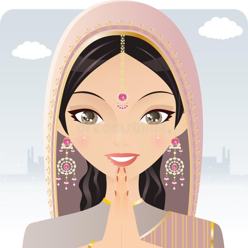 indyjska kobieta ilustracja wektor