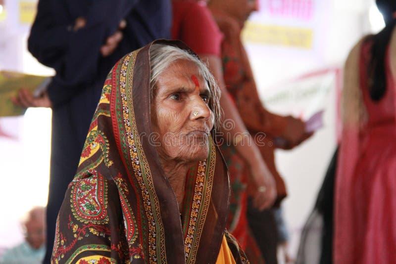 indyjska stara plemienna kobieta zdjęcie stock