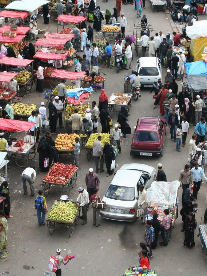 indyjska targowa ulica obraz stock