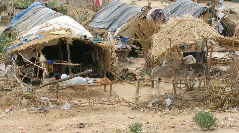 indyjska wioska zdjęcia stock