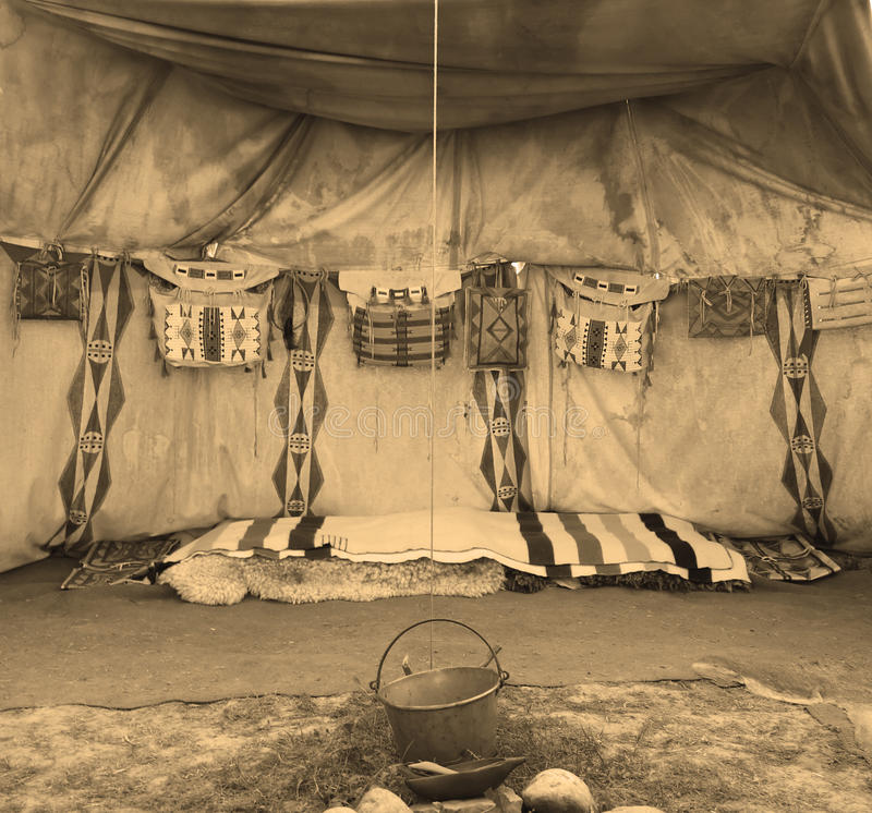 indyjski wewnętrzny namiot zdjęcia royalty free