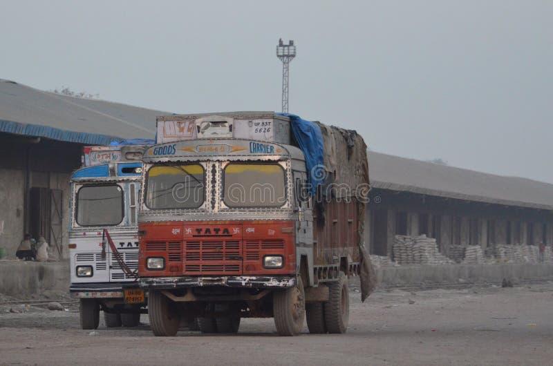 indyjskie ciężarówki obraz royalty free