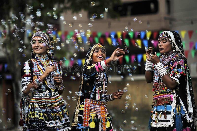 indyjskie plemienne kobiety obraz royalty free
