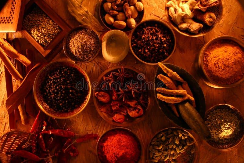 indyjskie przyprawy zdjęcia stock