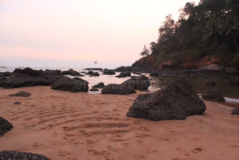 Indyjskie wybrzeże oceaniczne zdjęcia stock