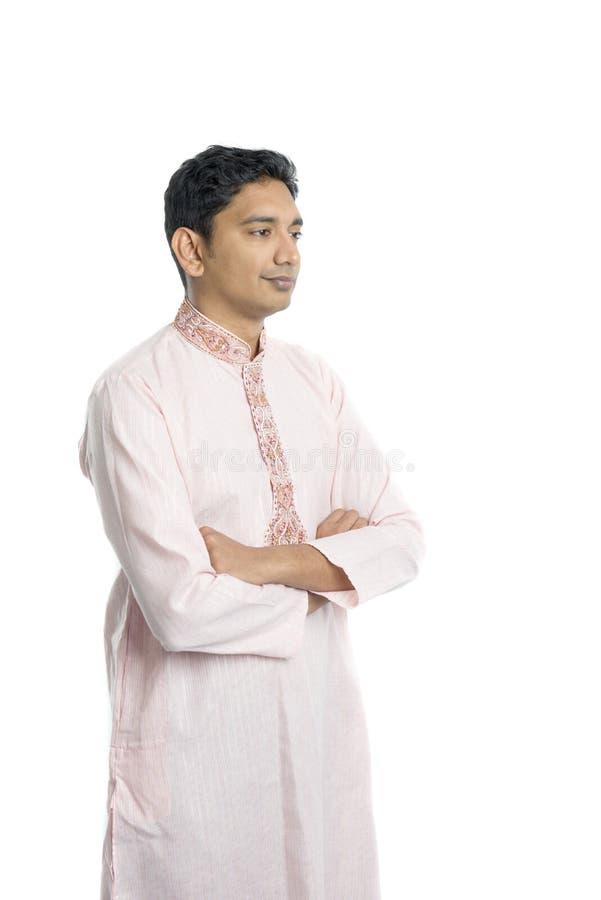 indyjskiego mężczyzna tradycyjni potomstwa zdjęcia stock