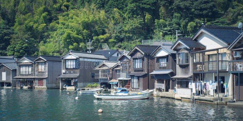 Ine отсутствие Funaya от городка Ine в Киото, Японии стоковые изображения