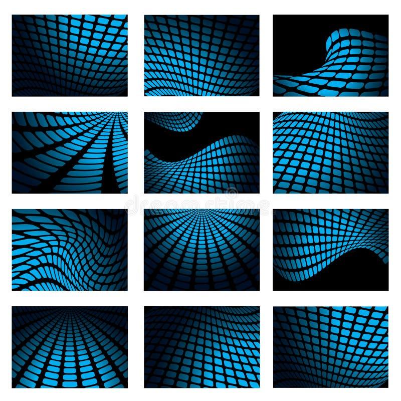 Ineinander greifenblauansammlung lizenzfreie abbildung