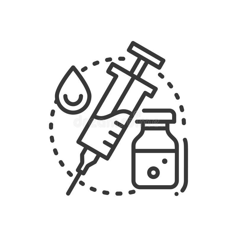 Inenting - het enige geïsoleerde pictogram van het lijnontwerp royalty-vrije illustratie