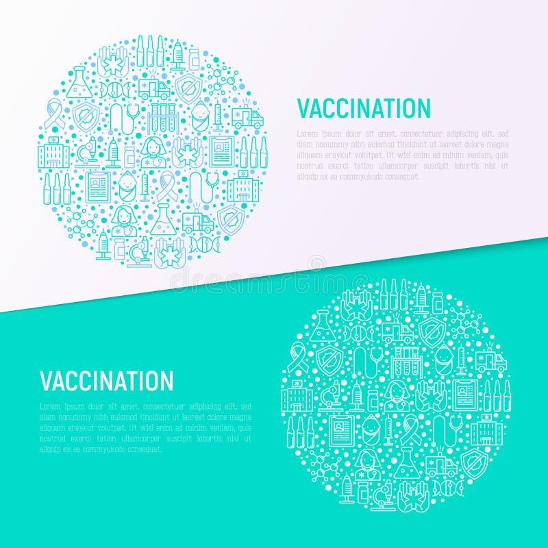 Inentingsconcept in cirkel met dunne lijnpictogrammen royalty-vrije illustratie