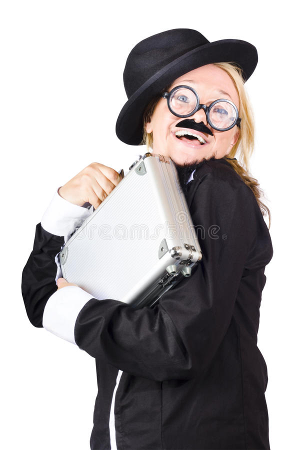 Download Business woman in disguise stock image. Image of white - 30251779