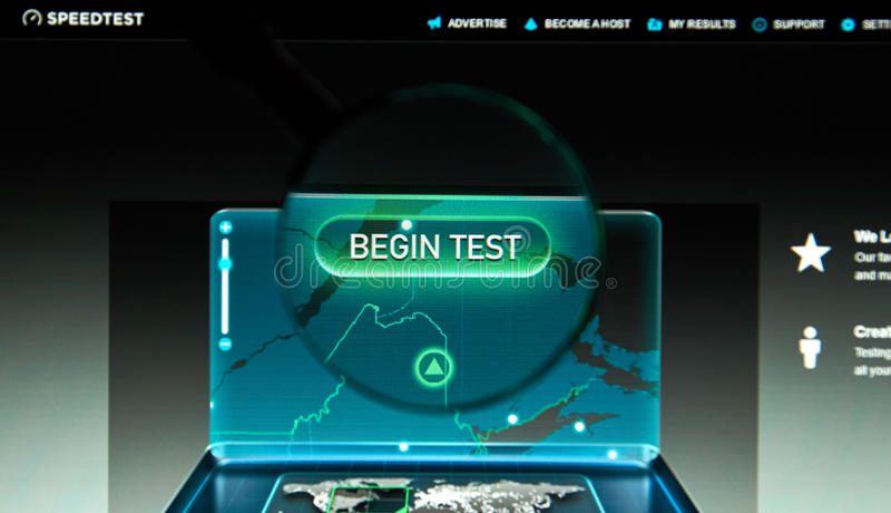 Inetrent υπηρεσία Speedtest στοκ φωτογραφίες με δικαίωμα ελεύθερης χρήσης