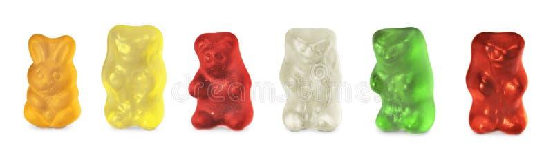 Infância e doces dos ursos da geleia isolados sobre foto de stock royalty free