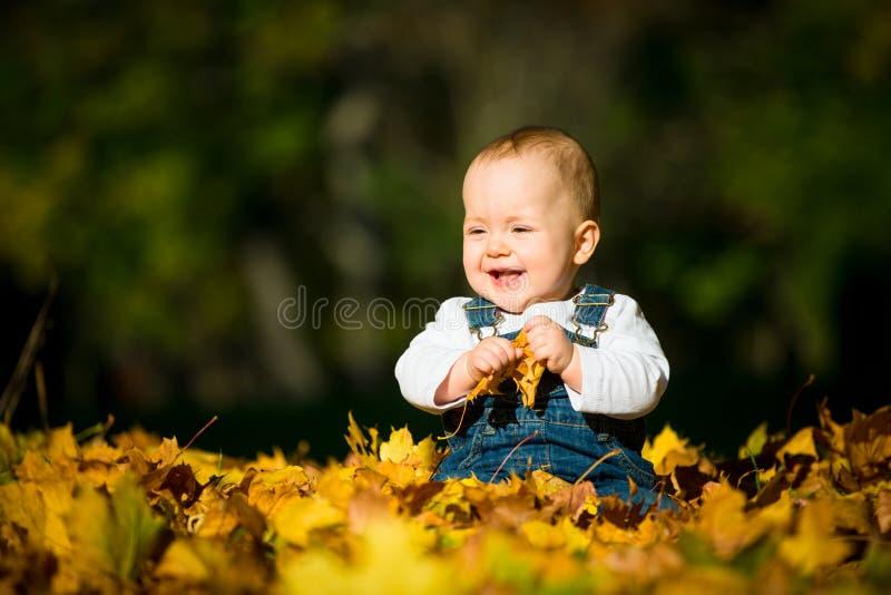 Infância feliz - dia ensolarado da queda imagens de stock royalty free