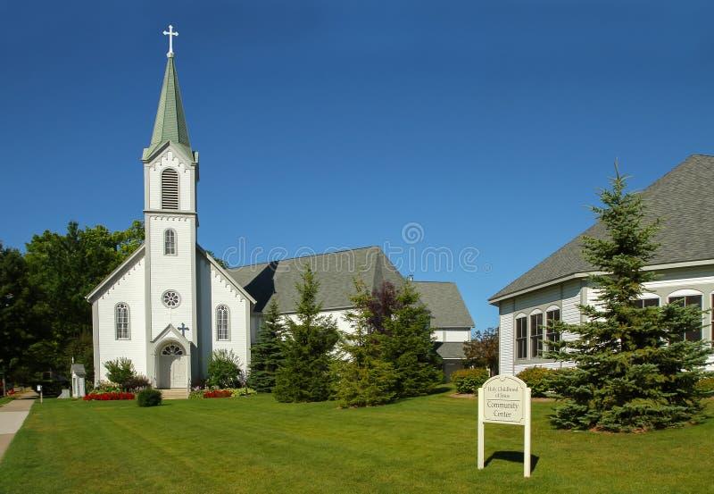 A infância santamente de Jesus Church e do centro comunitário fotografia de stock royalty free