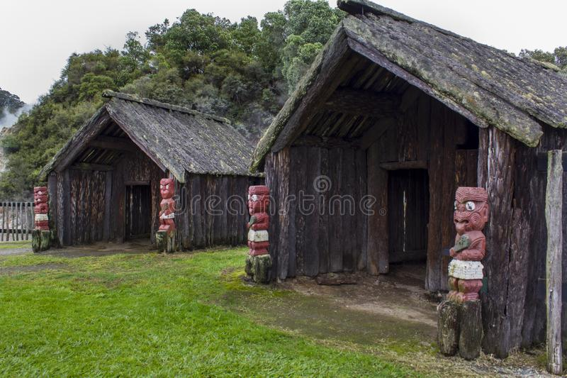 Infödd boning för maori royaltyfri bild