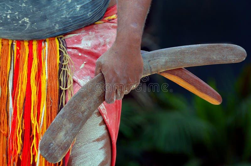 Infödd kulturshow i Queensland Australien arkivfoto