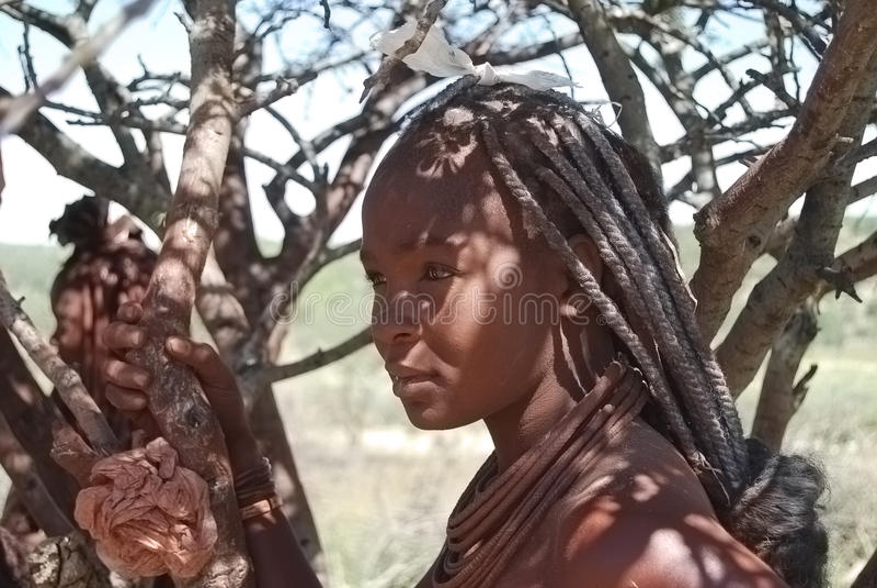 infödd peolplekvinna för afrikansk himba royaltyfri bild
