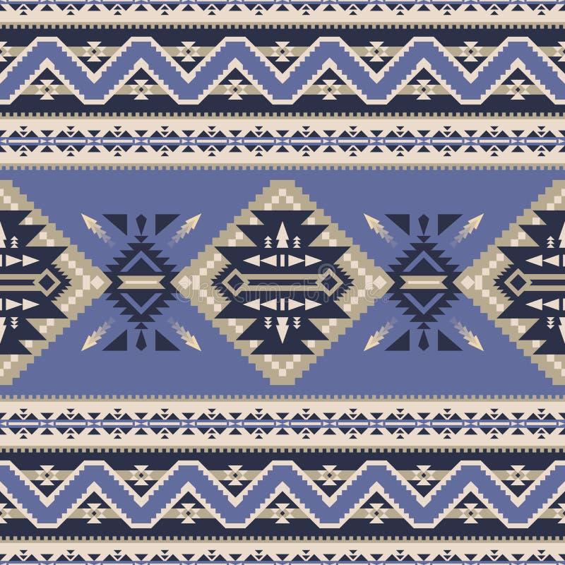 Infödd sydvästamerikan, indiskt som är aztec, sömlös modell för Navajo royaltyfri illustrationer