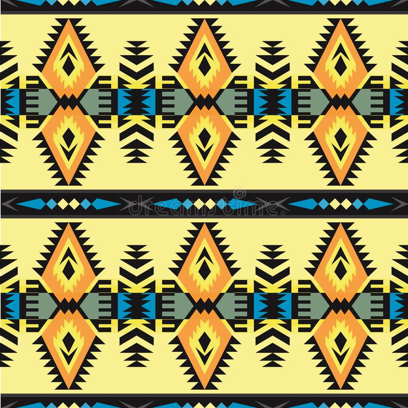 Infödd sydvästamerikan, indiskt som är aztec, sömlös modell för Navajo planlägg geometriskt stock illustrationer
