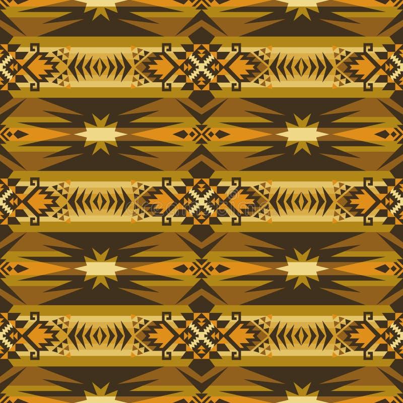 Infödd sydvästamerikan, indiskt som är aztec, sömlös modell för Navajo planlägg geometriskt vektor illustrationer