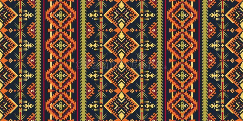 Infödd sydvästlig amerikan, indier, Aztec, sömlöst smattrande för Navajo royaltyfri illustrationer