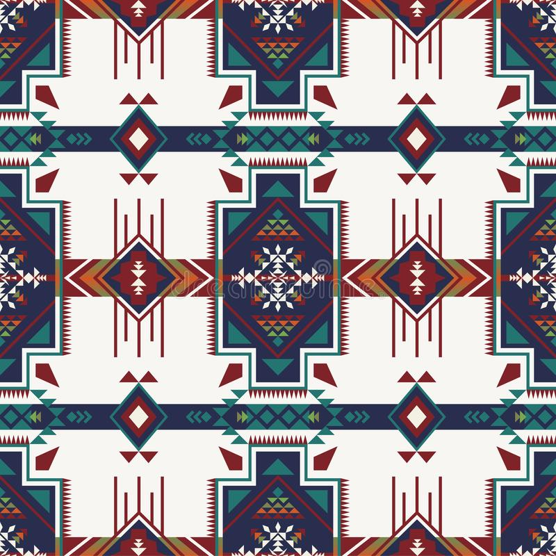 Infödd sydvästlig amerikan, indier, Aztec, sömlöst smattrande för Navajo vektor illustrationer