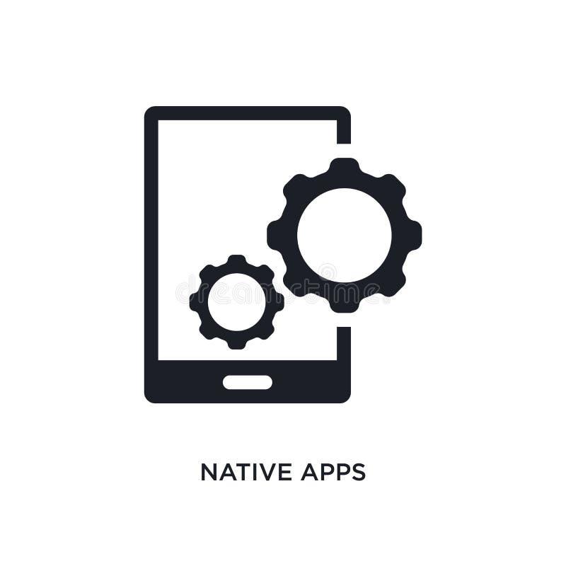 infödda apps isolerad symbol enkel beståndsdelillustration från teknologibegreppssymboler för logotecken för infödda apps rediger stock illustrationer