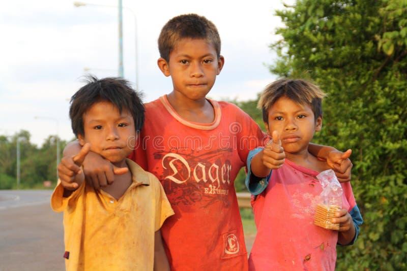 Infödda barn av Misiones fotografering för bildbyråer