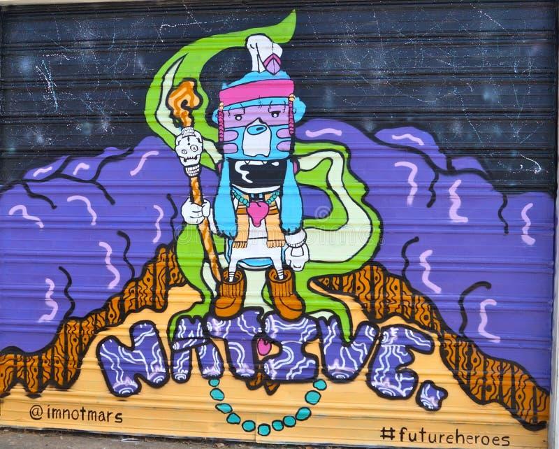 Infödda grafitti royaltyfri fotografi
