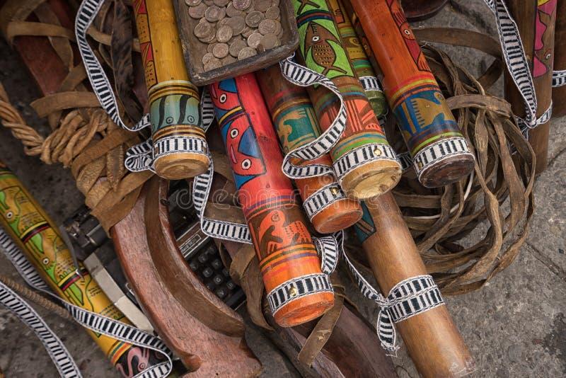 Infödda quechua hantverk royaltyfria foton
