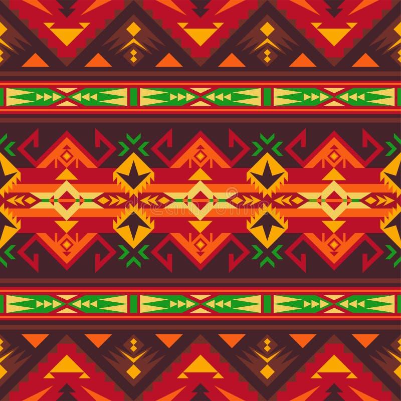 Inf?dd sydv?stamerikan, indiskt som ?r aztec, s?ml?s modell f?r Navajo planl?gg geometriskt stock illustrationer