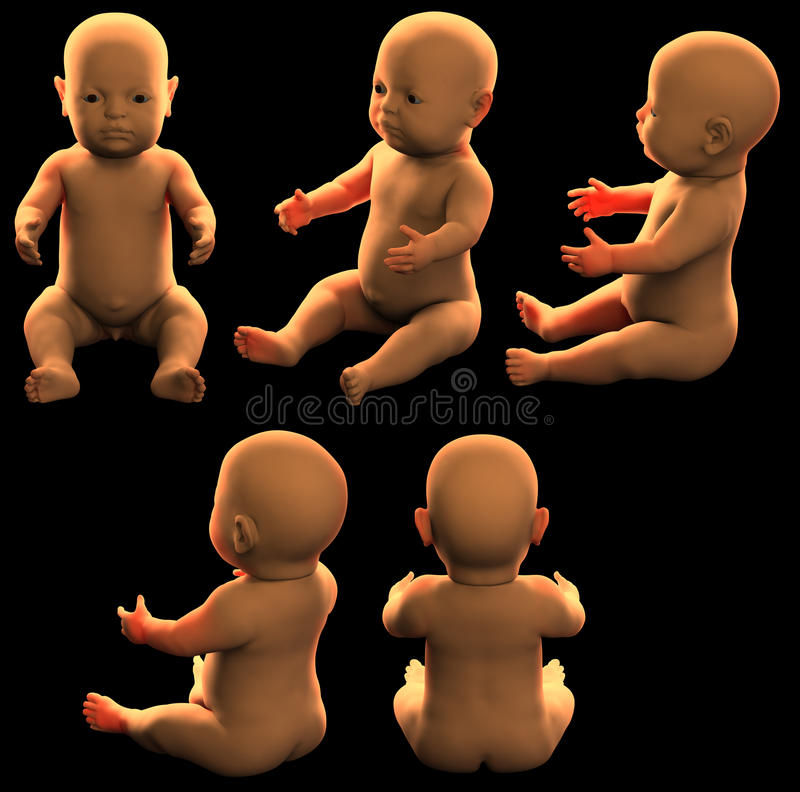 Download Infant stock illustration. Image of view, black, back - 12432152