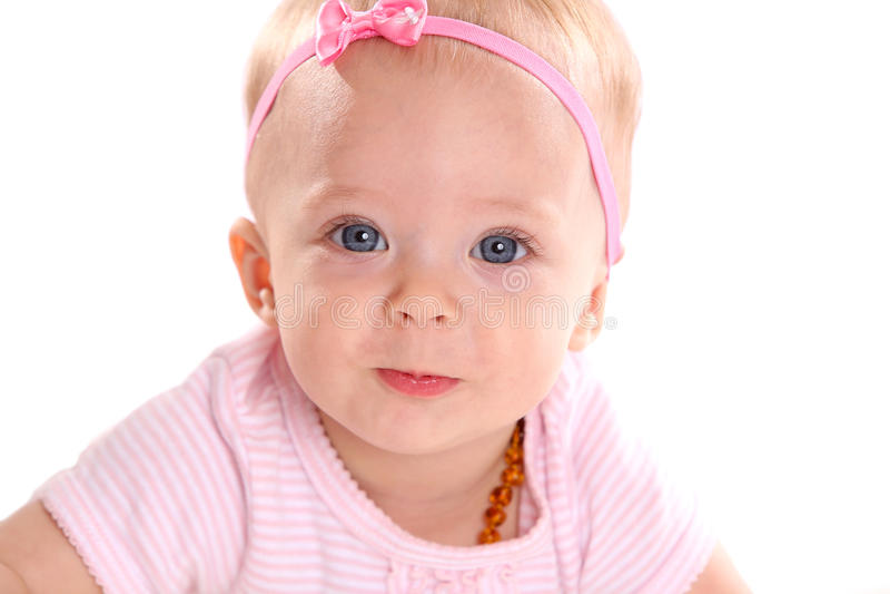 Infant girl royalty free stock photos