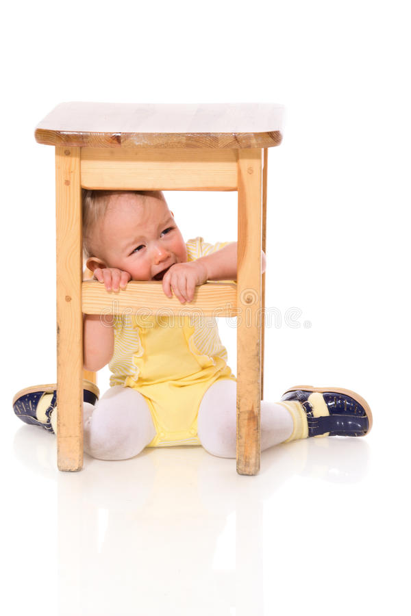 Infant Hiding Stock Photography