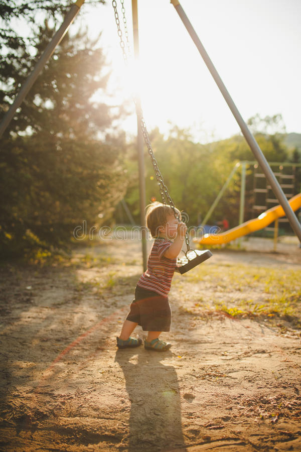 Infant On A Swing Stock Photography