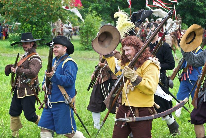 Infantaria sueco foto de stock