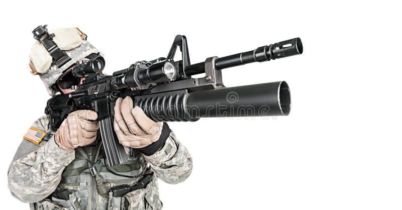 Infantaria transportada por via aérea do paramilitar imagem de stock royalty free