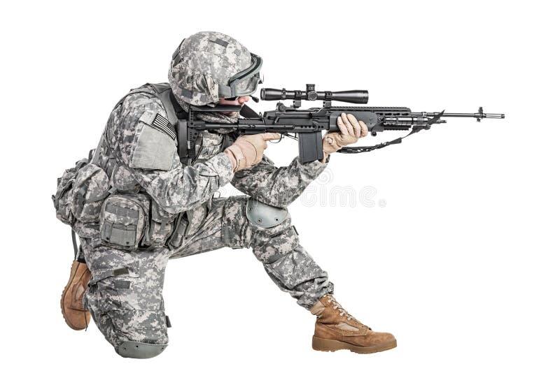 Infantaria transportada por via aérea do paramilitar imagem de stock