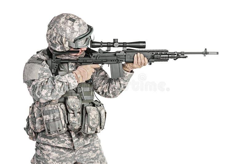 Infantaria transportada por via aérea do paramilitar imagens de stock