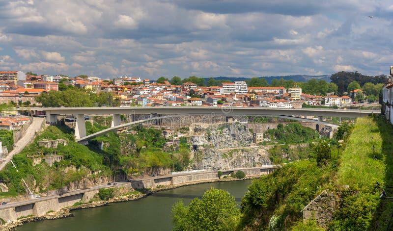 Infante D Henrique Bridge à Porto photos libres de droits