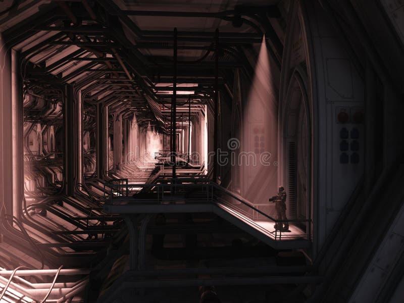 Infante de marina del espacio - protector solitario libre illustration
