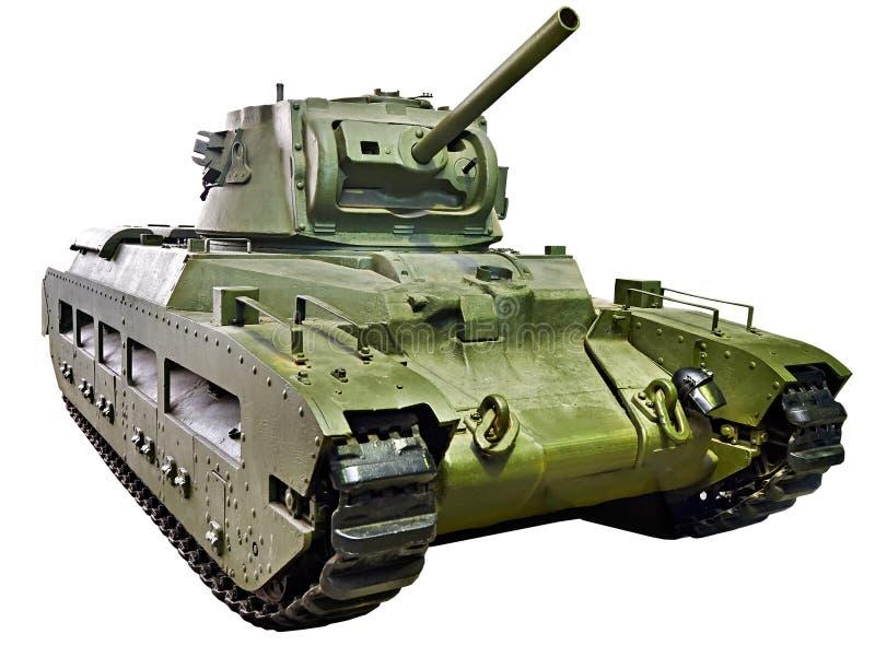 Infantería británica Mk del tanque II CS de Matilda III aislado fotos de archivo libres de regalías