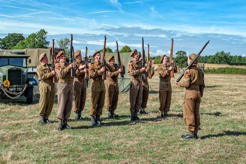 Infantería del regimiento de Suffolk, guerra mundial 11 foto de archivo