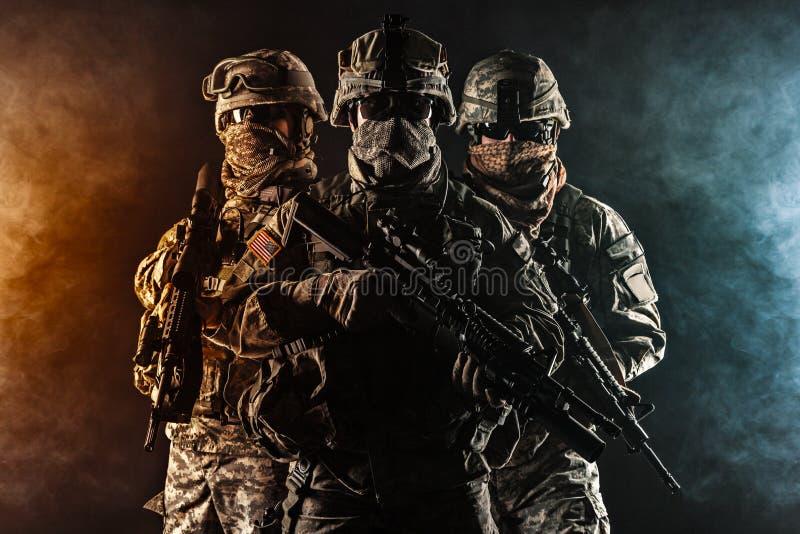 Infanterie aéroportée de parachutistes images libres de droits