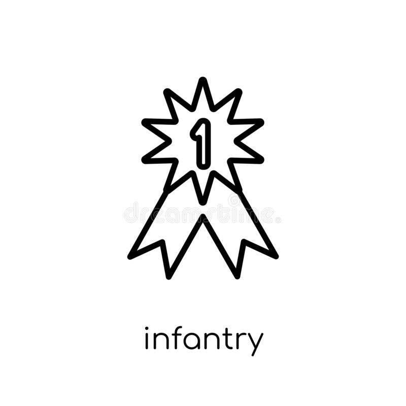Infantry icon from Army collection. Infantry icon. Trendy modern flat linear vector infantry icon on white background from thin line Army collection, outline vector illustration