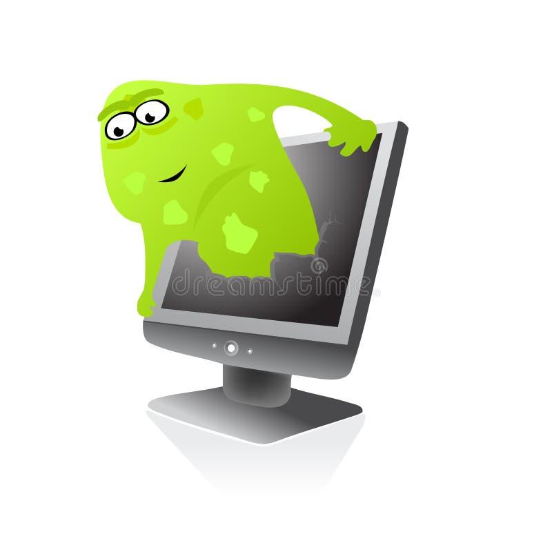 Infecção do vírus do Web do computador ilustração stock