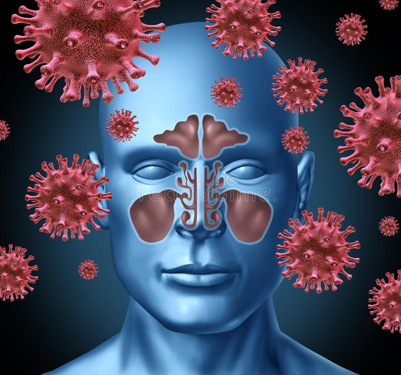 Infecção fria do vírus ilustração do vetor