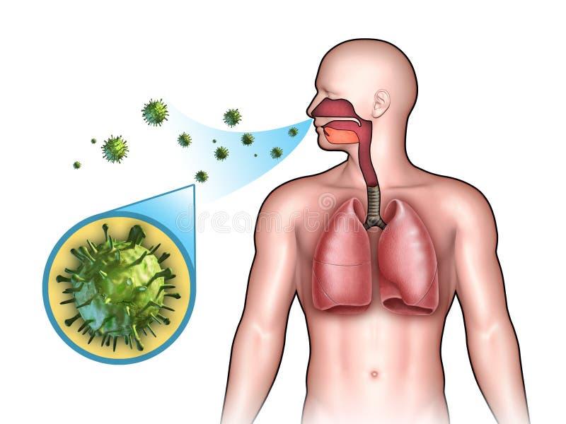 Infecção viral ilustração stock